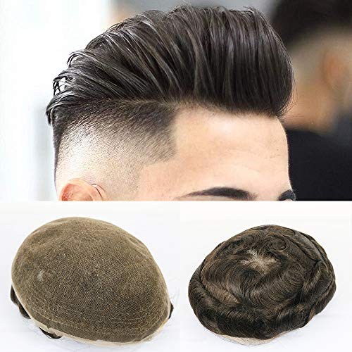 JPDP Toupee With Hair Full French Hairpieces and Freestyle Hairstyle Toupee For Men Color 1B 62 couleurs disponibles 8x10 540#