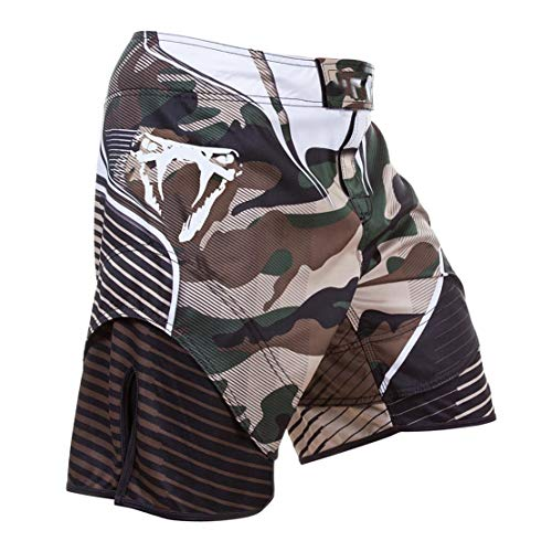 Carrey Fight Shorts Grappling Short Kick Boxing Fighting Shorts, Muay Thai Shorts Kick Boxing Artes Marciales Jaula Combate de Entrenamiento Equipamiento de Entrenamiento, Fighting Shorts