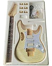 Lokaibin DIY elektrische gitaar kit palissander toets Beginner gitaar onderdelen set DIY muziekinstrumenten onderdelen