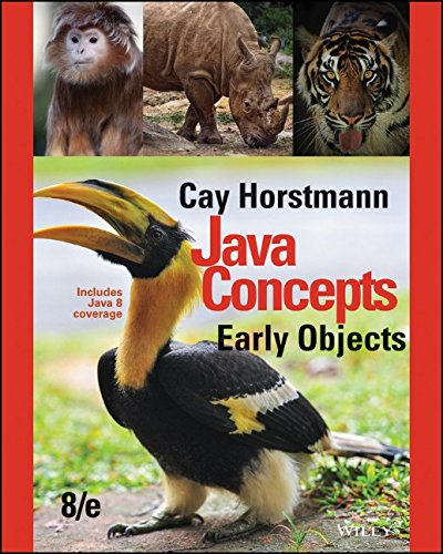 Java Concepts: Early Objects