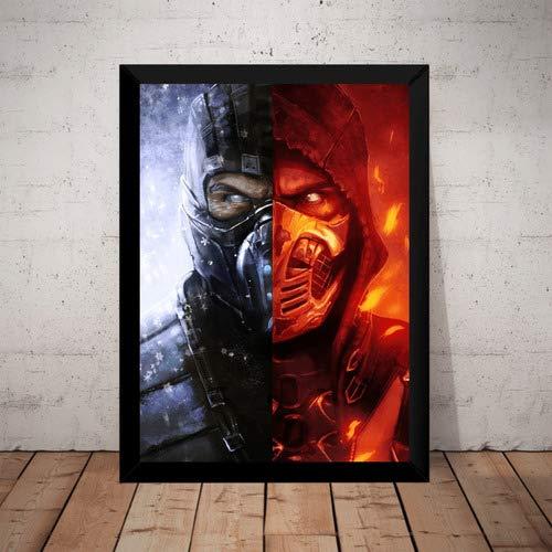 Quadro Game Mortal Kombat Sub-zero X Scorpion Poster Modura