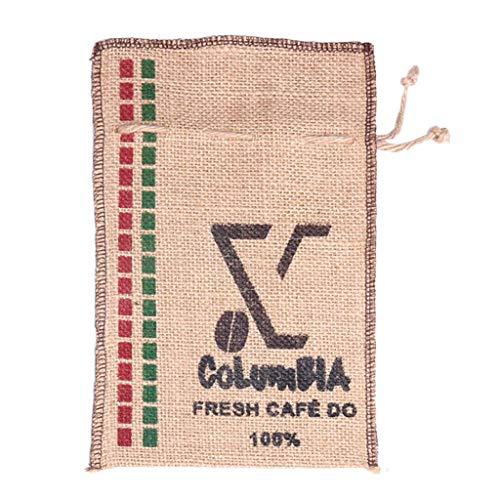 non-brand Jutebeutel Kaffeesack Kaffeesäckchen Jutesack Coffee Bean Bag Geschenkesack Organzabeutel für Kaffee Schmuck Feiern - 7