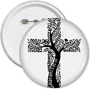 DIYthinker Religion Christianisme La croyance Église Sainte-Croix Arbre Feuilles Culture Art Design Illustration rond Moti...