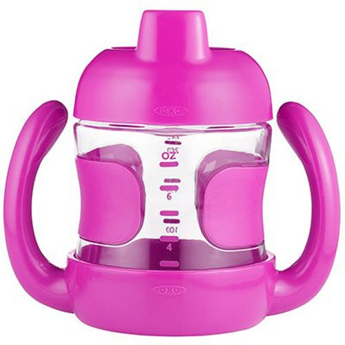 OXO Tot 200ml Sippy Cup with Handles (Raspberry)