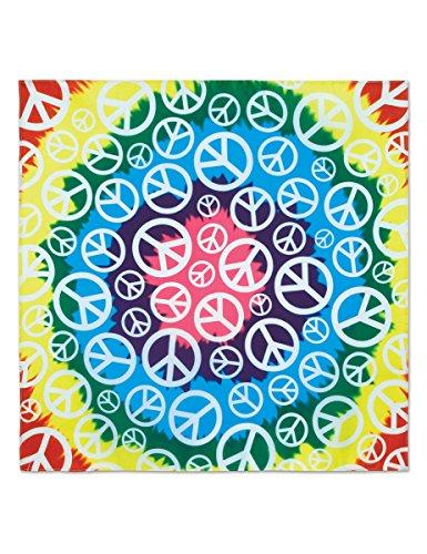 Generique Pace Bandana Hippie meerkleurig 55 cm Bandana Hippie meerkleurig 55 cm eenheidsmaat