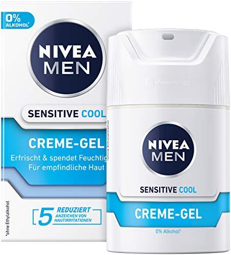 NIVEA MEN Sensitive Cool Creme Gel im 1er Pack (1 x 50 ml), erfrischende Gesichtscreme, beruhigende Feuchtigkeitscreme gegen Hautirritationen