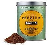 Premium Organic Ground Coffee - 100% Arabica Spanish Espresso Blend from Award Winning Café Saula (3X 250g)