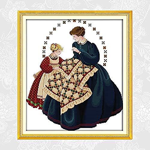 Bordado Pintura para mujer Punto de cruz Lienzo impreso Conjuntos de bordado hechos a mano...