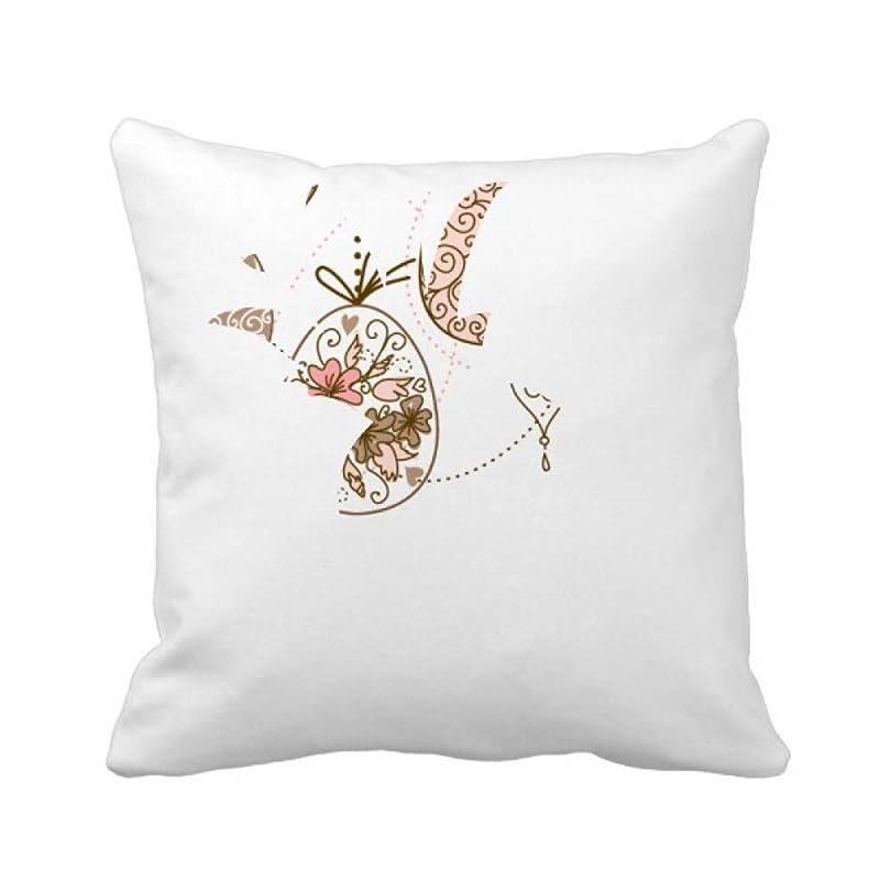 ショート伸ばすビジターかわいいピンクの色のイースターエッグの宗教掛かっている パイナップル枕カバー正方形を投げる 50cm x 50cm