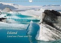 Island (Wandkalender 2022 DIN A4 quer): Land aus Feuer und Eis (Monatskalender, 14 Seiten )