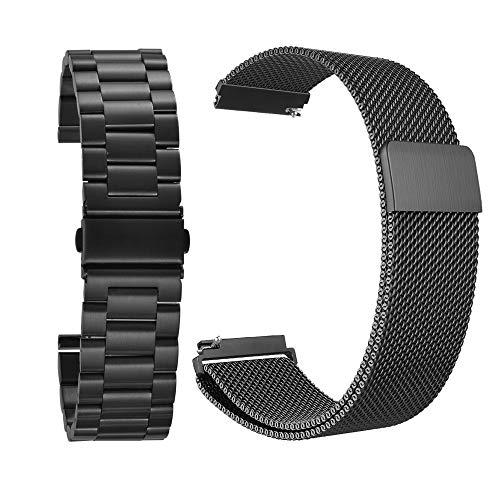 22 mm RVS Band + Milanese Loop Mesh Vervanging Armband Band Zwart Voor Samsung Gear S3 Frontier / S3 Classic Smart Watch TH885 Elektronische Accessoires Elektronische Accessoires