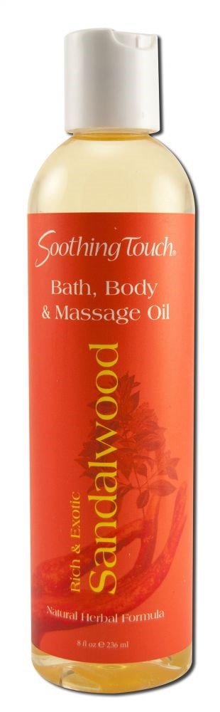 Soothing Touch Sandalwood Bath and Body Oil Limited time sale per 3 - free shipping 8 cas Ounce