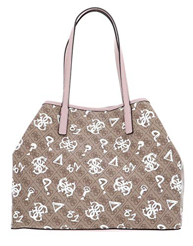 Guess Vikky Large Tote Brown Multi