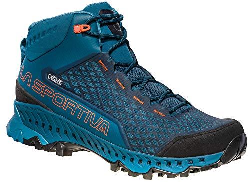LA SPORTIVA 24d606202, Chaussures de Randonnée Hautes Mixte Adulte, Multicolore (Ocean/Tangerine 000), 44.5 EU
