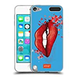 Official emoji Lips Polygon Soft Gel Case Compatible for Apple iPod Touch 5G 5th Gen