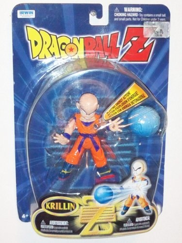 """Dragonball Z 2000 4"""" Z Fighter Action Figure with Blasting Energy Action- Krillin image"""