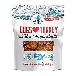 Farmland Traditions Filler Free Dogs Love Turkey & Sweet Potato Premium Jerky Treats for Dogs, 1 lb. Bag