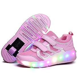 Letao-Led-Luces-Zapatos-con-Ruedas-para-Pequeos-Nios-y-Nia-Automtica-Calzado-de-Skateboarding-Deportes-de-Exterior-Patines-en-Lnea-Brillante-Mutilsport-Aire-Libre-y-Deporte-Gimnasia-Zapatillas