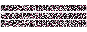 Leopard Print Hot Pink Black and White Wall Borders/Wall Decals/Stickers