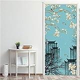 Papel pintado de la puerta de la escalera de caracol 3D, decoración creativa del hogar, pegatinas de puerta autoadhesivas de pvc, calcomanías de pared de bricolaje extraíbles-DZMT181_90x200cm