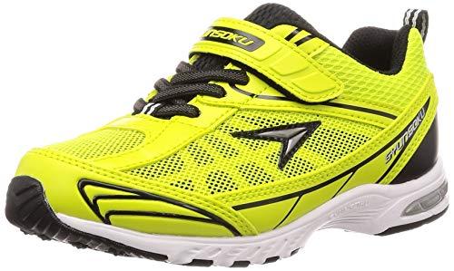 [シュンソク] スニーカー 運動靴 防水 軽量 17~26cm 2E キッズ 男の子 女の子 SJJ 4910 イエローグリーン 18.5 cm