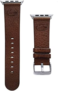 Affinity Bands of Florida Gators 22mm Premium Leather Watch Band - Compatible with Samsung, Garmin, Fossil Fitbit and More.