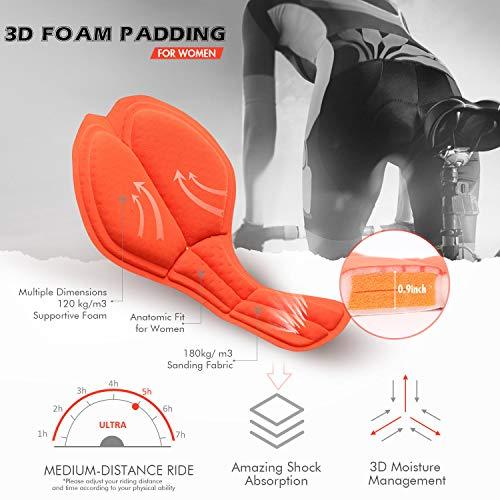 Souke Sports Damen Fahrrad Unterwäsche 4D Gepolstert Atmungsaktiv Fahrrad Unterwäsche Short - 2