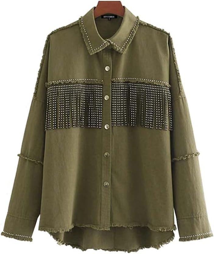 STRAW Japan Maker New Milwaukee Mall Women Fashion Oversized Frayed with Fringe Jacket Denim Co