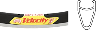 Velocity Deep-V 700c 36h Black with Machined Sidewall