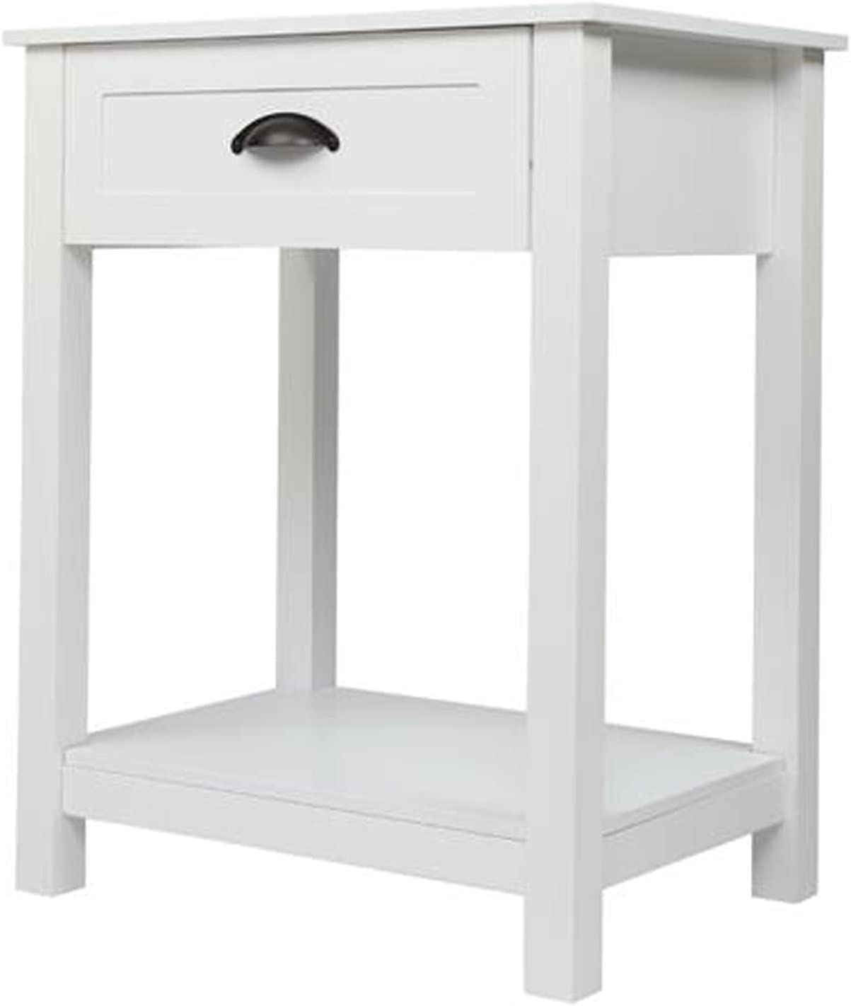 Super-cheap Electric oven White Nightstand with Stable Drawer Quality inspection Frame Storage
