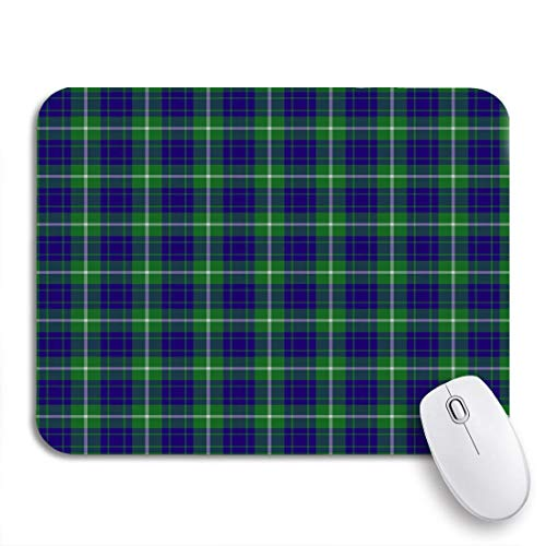 MIGAGA Gaming Mouse Pad Blue Patterned of The Clan Hamilton Hunting Tartan Green 9.5'x7.9' Nonslip Rubber Backing Computer Mousepad for Notebooks Mouse Mats