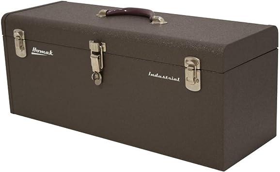 Homak 20-Inch Industrial Steel Toolbox, Brown Wrinkle Powder Coat, BW00200200: image