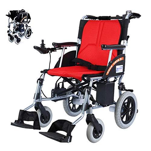 Elektrisch angetriebener Rollstuhl klappbarer Rollstuhl Rollstühle Dual Controller Leichte Sitzbreite 45 cm Herausnehmbare Lithiumbatterie