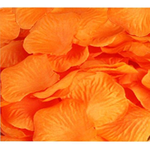 Wedding Decoration Silk Rose Petals Pack of 2000 Orange