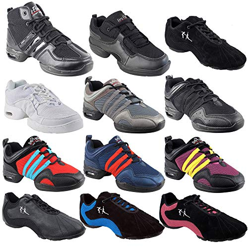 Unisex Zumba Shoes Dance Sneaker for Women & Men : VFSN012 Low Profile White Size 7