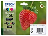 Epson 29XL Claria Home Strawberry Cartouches d'encre d'origine Multi-pack...