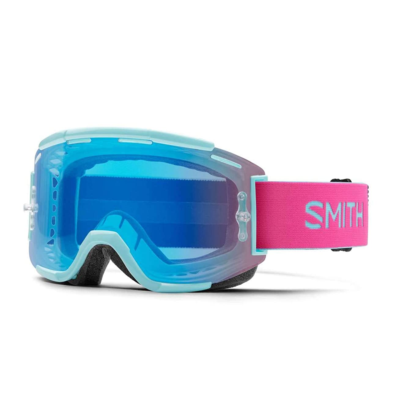 Smith Optics Squad Adult MTB Off-Road Cycling Goggles - Iceberg/Peony/ChromaPop Contrast Rose/One Size