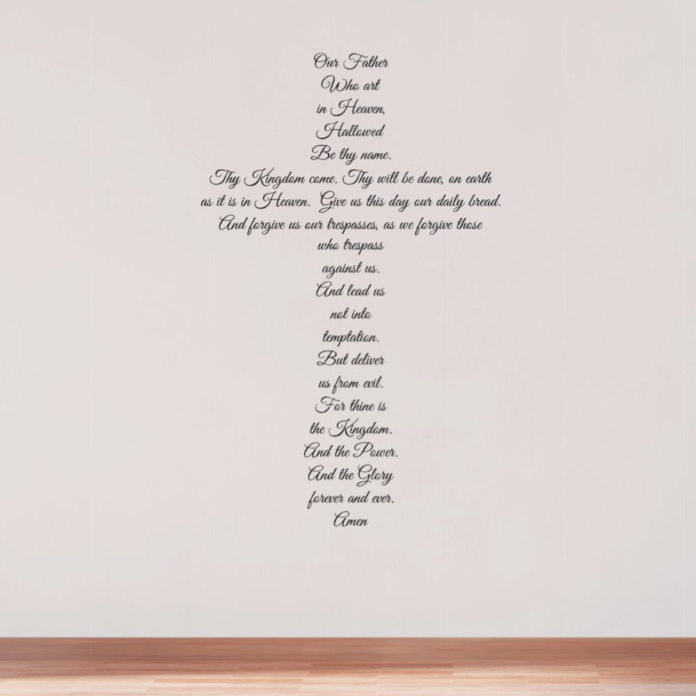 The Lord's Prayer Atlanta Mall quality assurance Wall Decal Decor Matthe Religious Cross