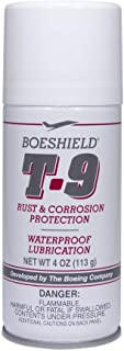 BOESHIELD T-9 Rust & Corrosion Protection/Inhibitor and Waterproof Lubrication, 4 oz aerosol
