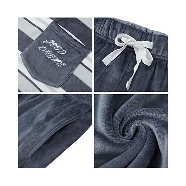 U2SKIIN Matching Pajamas Set for couples, Men and Women Striped Pajamas Super Soft