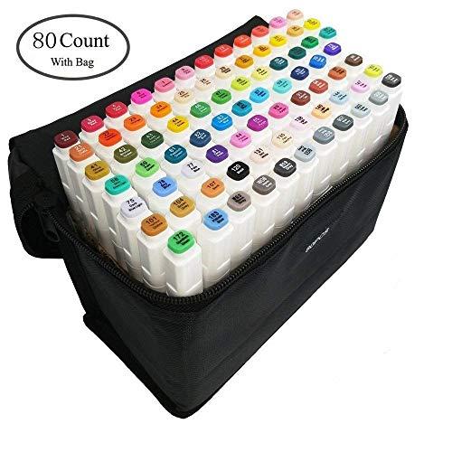 80 Color Rotuladores Artísticos Arte dibujo Doble
