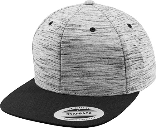 Flexfit Mütze Stripes Melange Crown Snapback blk/Gry, One Size