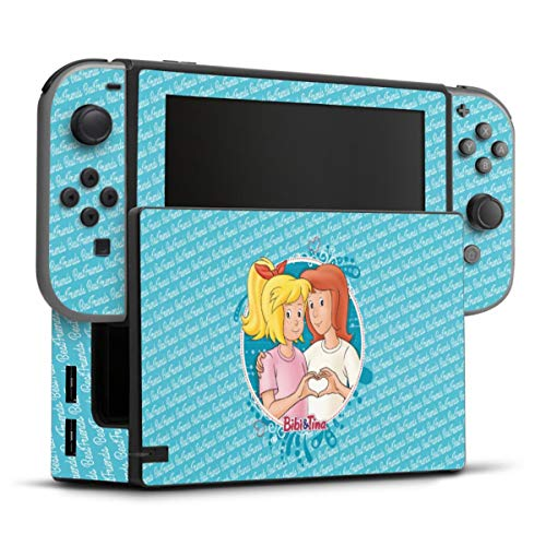 DeinDesign Skin kompatibel mit Nintendo Switch Folie Sticker Bibi Blocksberg Bibi und Tina Fanartikel