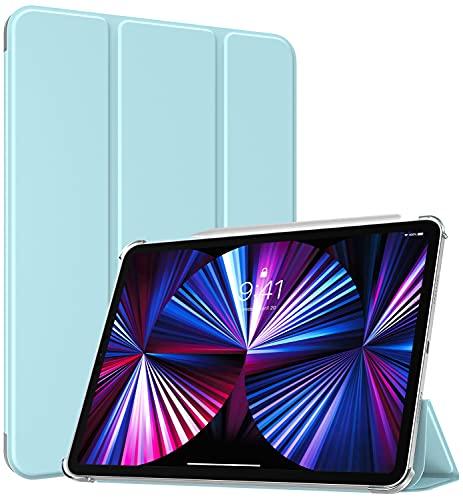 TiMOVO Custodia Protettiva Compatibile con New iPad PRO 11 inch 2021 (3rd Gen), Ultra Sottile Leggero Cover, Funzione di Auto Sveglia/Sonno, Retro Semi-Trasparente Rigido per Tablet - Cielo Blu