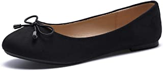 SYCO Women's Ballet Flat Classic Round Toe Slip on Casual Comfort Walking Shoes
