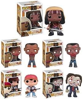 Funko POP! AMC's The Walking Dead Series 2, Complete Set of 5 (Tank Zombie, Glenn, Michonne & her Pet Zombies 1 & 2)