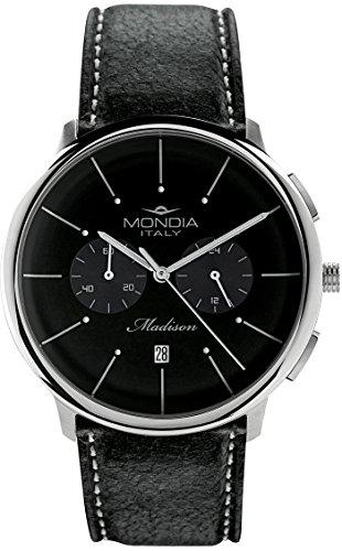Mondia italy madisson chrono orologio Uomo Analogico Al quarzo con cinturino in Pelle di vitello MI751-3CP