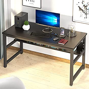 Nsdirect 55 Inch Computer Desk with Storage Shelves