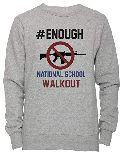 Erido National School Walkout Day Shirt - National School Walkout Day Unisexe Homme Femme Sweat-Shirt Jersey Pull-Over Gris Taille M Men's Women's Jumper Grey Medium Size M