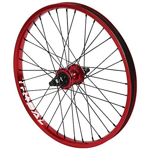 Tribal BMX - Rueda trasera para bicicleta (9T, 50,8 cm, 5 colores), rojo